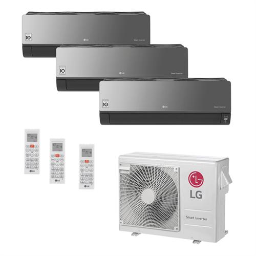 Ar Condicionado Multi-Split LG ArtCool Inverter 24.000 BTU/h (3x 7.200) Quente/Frio 220V Ar Condicionado Multi-Split LG ArtCool Inverter 24.000 BTU/h (3x 7.000) Quente/Frio 220V