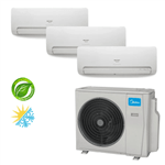 Ar Condicionado Springer Midea Multi-Split Inverter 27.000 BTU/h (3x 9.000) Quente/Frio 220v