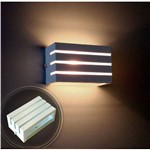 Arandela Frisada Luminária Branca para Muro Parede Externa G9