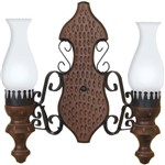 Arandela Rústica para 2 Lâmpadas Envelhecida 702E - Luminárias Muller