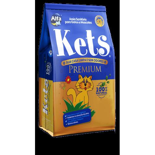 Areia Sanitaria Alfa Pet Kets Premium para Gatos e Mascotes 4kg