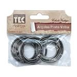 Argolas Vintage Prata Velha - Pacote com 12 Unidades