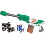 Arma Lançador Dardos Brinquedo Super Shot 10 Balas