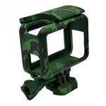 Armação Suporte Camuflado The Frame para Câmera GoPro Hero 5 6 7 Black Cor Verde Escuro