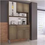 Armário de Cozinha 6 Portas 1 Gaveta Melissa Genialflex Castanho/Mel 3D