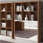 Armário para Escritório 1,20m 3 Portas de Espelho MDF TC611E Dalla Costa - Dalla Costa