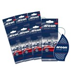 Aromatizante de Carro Sache Areon Sport Lux Chrome - Perfume Automotivo - 7 Unidades