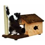 Arranhador Casa em Pelúcia e Sisal Premium para Gatos