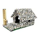 Arranhador Casa Gato Chalé com Varanda Estampa Animal