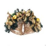 Arranjo Enfeite Sino de Natal P/ Decoração 35x50 Cm Dourado