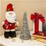 Árvore de Mesa Prateada em Formato de Cone, 30cm - Christmas Traditions
