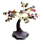 Árvore Pedras Cristais Mistos com Drusa de Ametista 15cm
