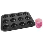 Assadeira Cupcake Inox com Formas de Silicone - Mor 1022520