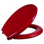 Assento Sanitário Almofadado Oval Vermelho Bordô - Astra