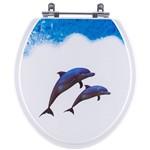 Assento Sanitário Decorado Golfinhos para Vaso Convencional