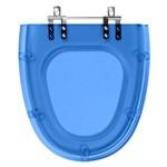 Assento Sanitario Poliester Eros Azul Translucid para Louça Incepa