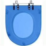 Assento Sanitario Poliester Nexo Azul Translucido para Vaso Roca