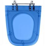 Assento Sanitario Poliester Nuage Azul Translucid para Louça Incepa