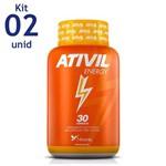 Ativil Energy Fitoway Cafeína 105mg 2 Unid. 30 Caps
