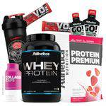 Atletica Nutrition - Whey Protein Isolado Concentrado+Colageno+ Copo Coqueteleira Shaker