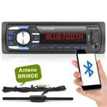 Auto Radio Mp3 Player Bluetooth USB Sd Multilaser Som Automotivo + Antena Interna Stetsom