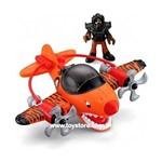 Avião Imaginext Sky Racer Tubarão Tigre