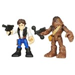 B3817 Starwars Playskool Han Solo Chewbacca