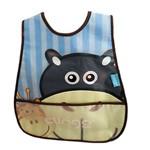 Babador Impermeável com Bolso Coletor Hipopotamo Azul Clingo