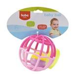 Baby Ball Luz e Som Buba Baby Rosa 6m+ - 5848