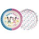 Baby Disney Chá Revelação Prato Papel 18cm C/8 - Regina