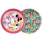 Baby Disney Minnie Prato Papel 18cm C/8 - Regina