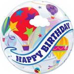 Balão Bubble - Happy Birthday Balões Tour - 22 Polegadas - Qualatex