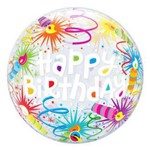 Balão Bubble - Happy Birthday Velinhas - 22 Polegadas - Qualatex
