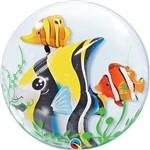 Balão Bubble - Peixes - 24 Polegadas - Qualatex