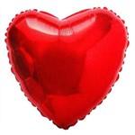 Balão Coração Vermelho 45cm Metalizados Kit C/ 10 Unid Vazio