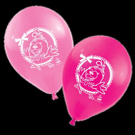 Balão de Látex Galinha Pintadinha Rosa - 25 Unidades