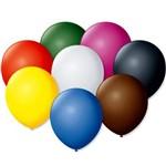 Balão de Látex Liso Sortidos 7 Polegadas com 50 Un.