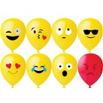 Balão Decorativo 11'' com 25 Unidades Emoticons Happy Day