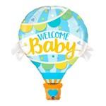 Balão Metalizado 42 Polegadas - Bem-vindo Bebê Balão Azul - Qualatex