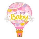 Balão Metalizado 42 Polegadas - Bem-vindo Bebê Balão Rosa - Qualatex