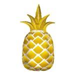 Balão Metalizado 44 Polegadas - Abacaxi Ouro - Qualatex