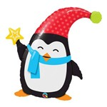 Balão Metalizado 35 Polegadas - Popular Elfin Penguin - Qualatex