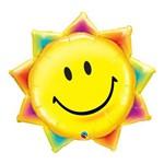Balão Metalizado 35 Polegadas - Raio de Sol e Carinha Sorridente - Qualatex