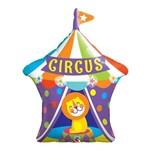 Balão Metalizado 36 Polegadas - Leão de Circo com Toldo Grande - Qualatex