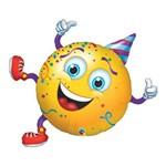 Balão Metalizado 38 Polegadas - Carinha Festeira - Qualatex