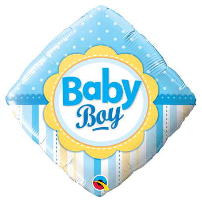 Balão Metalizado Baby Boy 46cm Qualatex