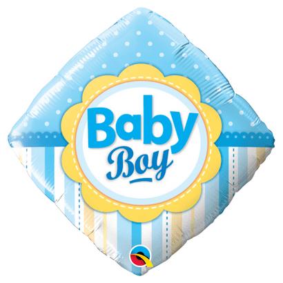 Balão Metalizado Baby Boy 46cm Qualatex