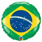 Balão Metalizado Brasil Tamanho 18 Qualatex
