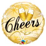 Balão Metalizado Cheers Saúde 46cm Qualatex