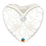 Balão Metalizado Coração 18 Polegadas - Smoking de Casamento - Qualatex